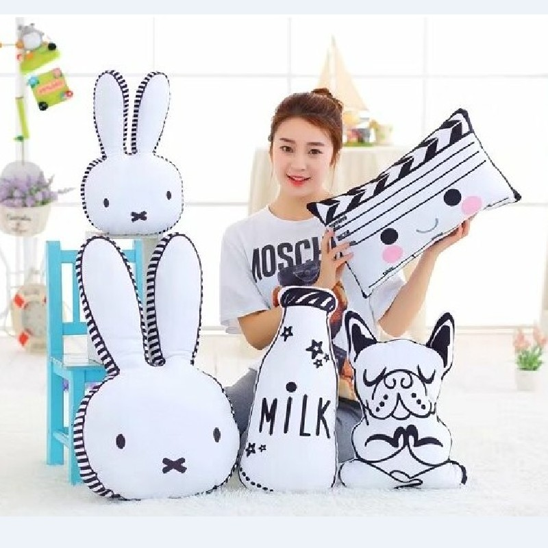 Decoration toys for kids Rabbit Face stuffed Pillow Dog Milk Bottle Plush Cushion Emoji Pillow Chair Cushion 40cm 60cm jiguoor 8858 220v 650w portable led bga rework solder station hot air blower heat gun