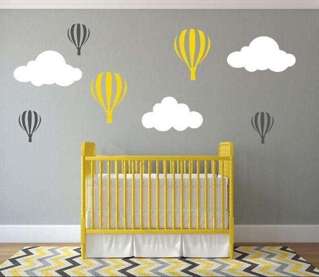 Hot Air Balloon Nursery Wall Decals Living Room Bedroom Home Decoration Removable Vinyl Diy Style Sicker