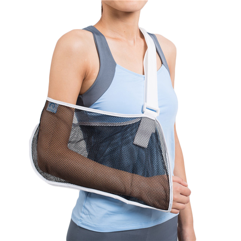 HKJD Arm sling Shoulder immobilizer Wrist Elbow Rotator Cuff Support Brace Lightweight Breathable Mesh Cool Orthopedic