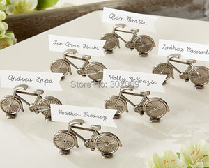 """Perfect Wedding and Party Decoration Favor of """"Le Tour"""" Bicycle Place Card/Photo Holder For Antique Wedding Favor 12pcs"""
