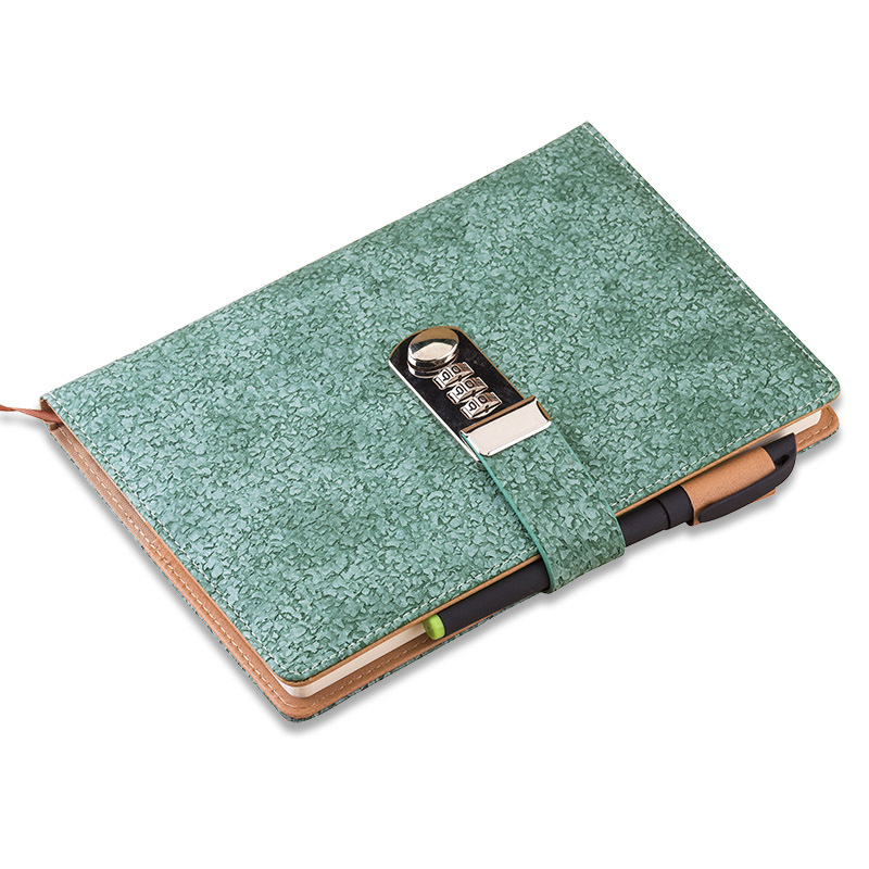NEW Vintage Notebook Diary with lock code creative trends stationery Products notepad 100 sheets paper office school supplies hot diary with lock code leather notebook paper128 sheets notepad note book creative trends pringed office school supplies gift