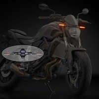 KEMiMOTO clignotant lumières lumière de indicateurs LED d'eau à écoulement universel pour Honda pour Kawasaki Z750 R3 Z800 R6 MT07 MT09