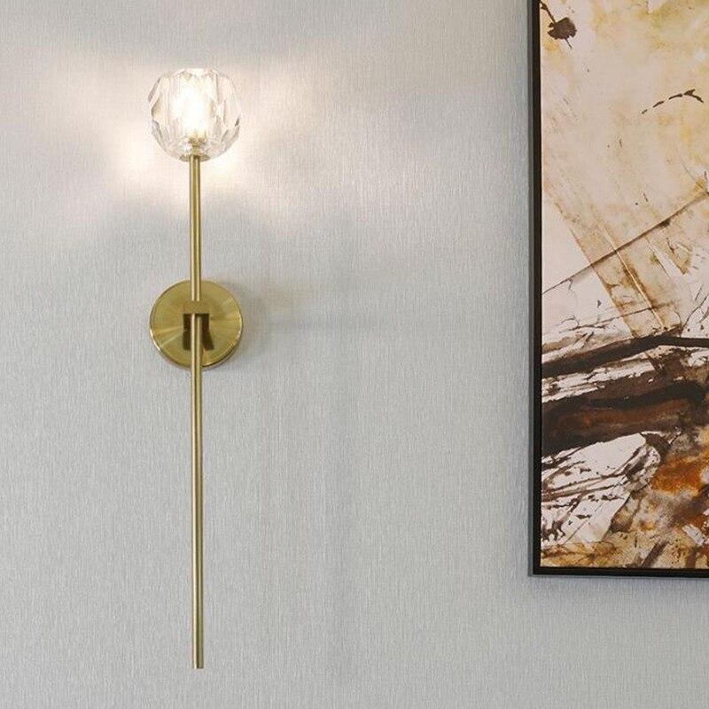 O pós-modernismo K9 Ao Lado Levou Luz de Parede Criativo Sala de Cristal Romântico Salão Villa Iluminação Arandela Frete Grátis