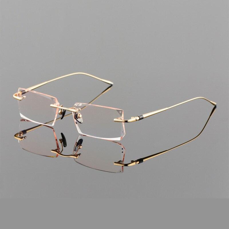 Sin montura de Titanio Marco de Las Lentes Unisex gafas de Presbicia ...
