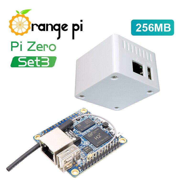 Orange Pi Zero Set3: Orange Pi Zero256MB+Protective White Case ,H2+ Quad Core Open-source development board