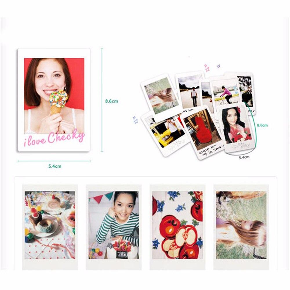 50pcs Fujifilm Fuji Instax Mini 8 9 Instant Film White Sheet For Wide Monochrome Single 20 Lembar Polaroid 7s 10 25 50s 50i Sp1 Camera In From Consumer
