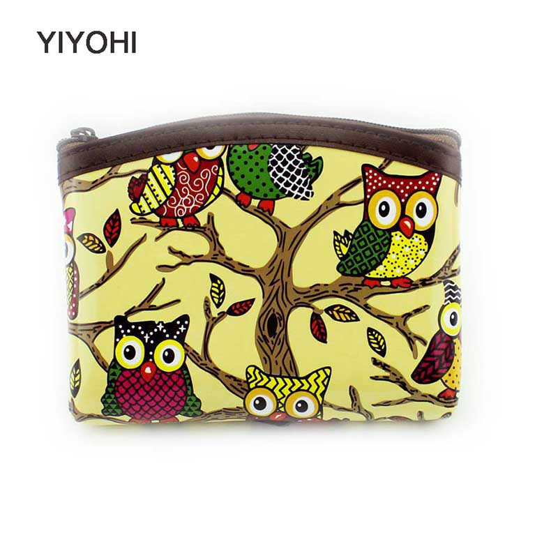 YIYOHI New Cute Owl Patent Leather Women coin purse Grils coins bag Mini wallet pouch Ladies clutch change purse With Key Chain 2015 new candy color women wallet patent leather coin purse designer fashion cute girls clutch bag handbag billeteras