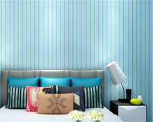 beibehang Fashion advanced vertical pattern watercolor nonwoven fabric bedroom wall paper environmental ink 3d wallpaper