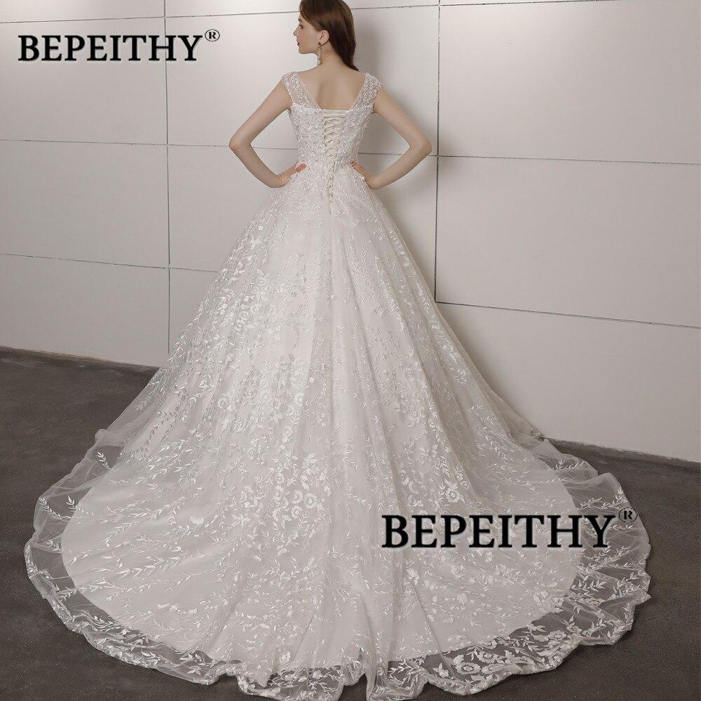 Vintage Lace Wedding Dress Court Train With Beading Top Vestidos De Novia Vintage Ball Gown Wedding Gowns 2020 Hot Sales