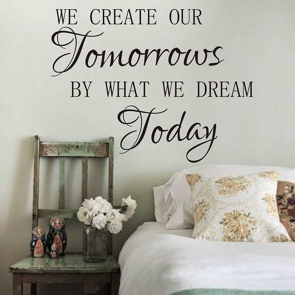 We Create Our Tomorrow by What Dream Today Office Inspirational Motivational Kid Quotes Wall Sticker Quotes Wall Decals 695Q