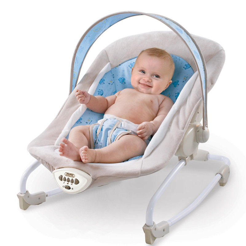 2017 Brand New Babies Electric Appease Rocking Chair Bouncers,Jumpers & Swings Baby Shake Chairs Infant Leisure Chair With Music 2017 new babyruler portable baby cradle newborn light music rocking chair kid game swing
