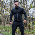 Fitness Men GYMS Hoodies Thin Zipper Sweatshirts Bodybuilding Clothes Hooded Jacket Slim Fit Workout Clothes