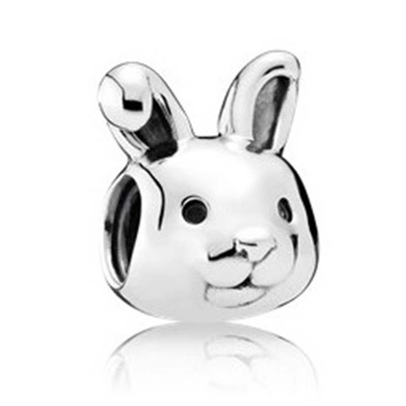 New Trendy 100 925 Sterling Silver Bead Cute Rabbit Charm Fit Original Pandora Bracelet Bangle for Women DIY Jewelry Gift in Beads from Jewelry Accessories