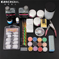 Pro Full Nail Art Sets Acrylic Liquid Brush Clipper Primer File UV Gel Glue Glitter Decoration Tips Salon DIY Manicure Tools Kit