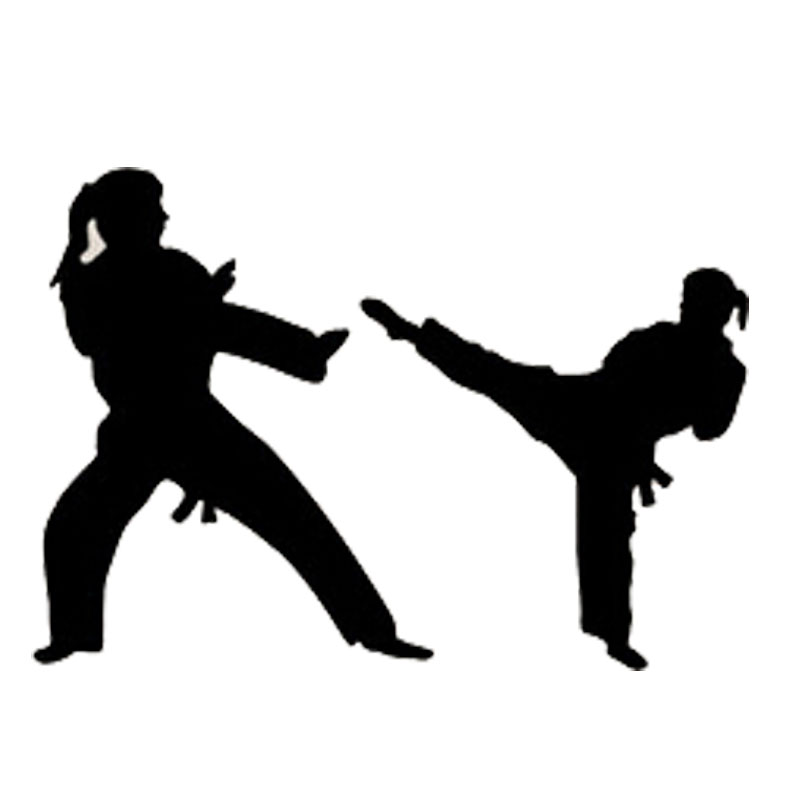 14 2cm 10cm Fashion Personality Karate Vinyl Car Stickers