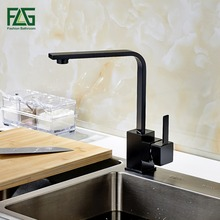 FLG Multiple Choices Kitchen Faucet Kitchen Cold And Hot Water Tap Black Deck Mounted 360 Degree Rotating Torneira Robinet 8008B