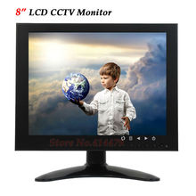 Professional 8 inch Color LCD CCTV Surveillance Monitor VGA BNC AV Video input For Home Security Camera Metal Case