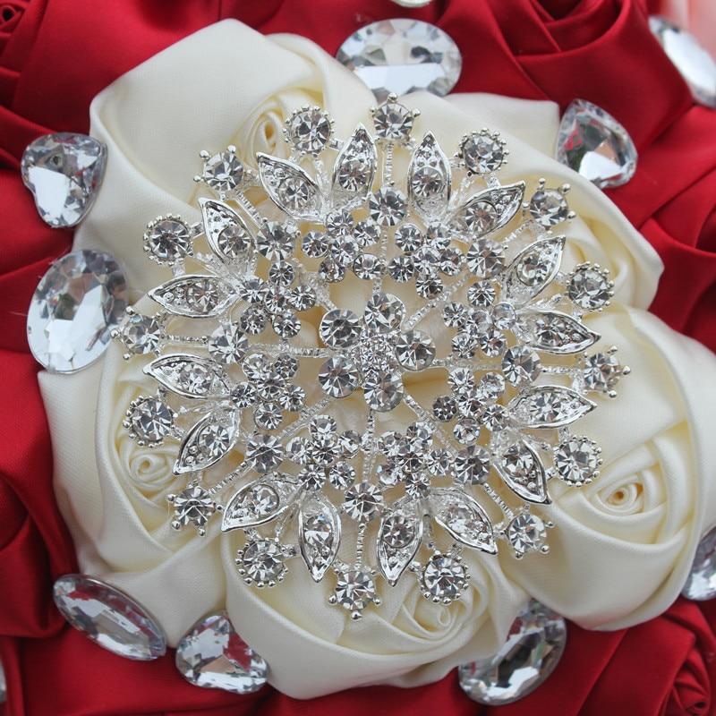 Hnadmade Marfim Color Marfil Flores Artificiales Ramos Flores - Para fiestas y celebraciones - foto 6