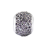 Authentic 925 Sterling Silver Pave Zircon Ball Charm Bead Fits Pandora Style Charm Bracelets Bangles