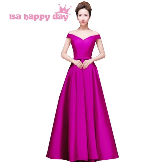 satin v-neck floor-length   bridesmaid   robes   bridesmaids     dresses   plus size 2019 women gowns size 18   bridesmaids     dress   gown H2644