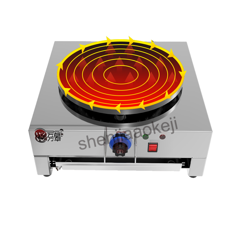 Stainless steel commercial pancake machine Electricity baking pan non-stick coated Miscellaneous grains pancake machine