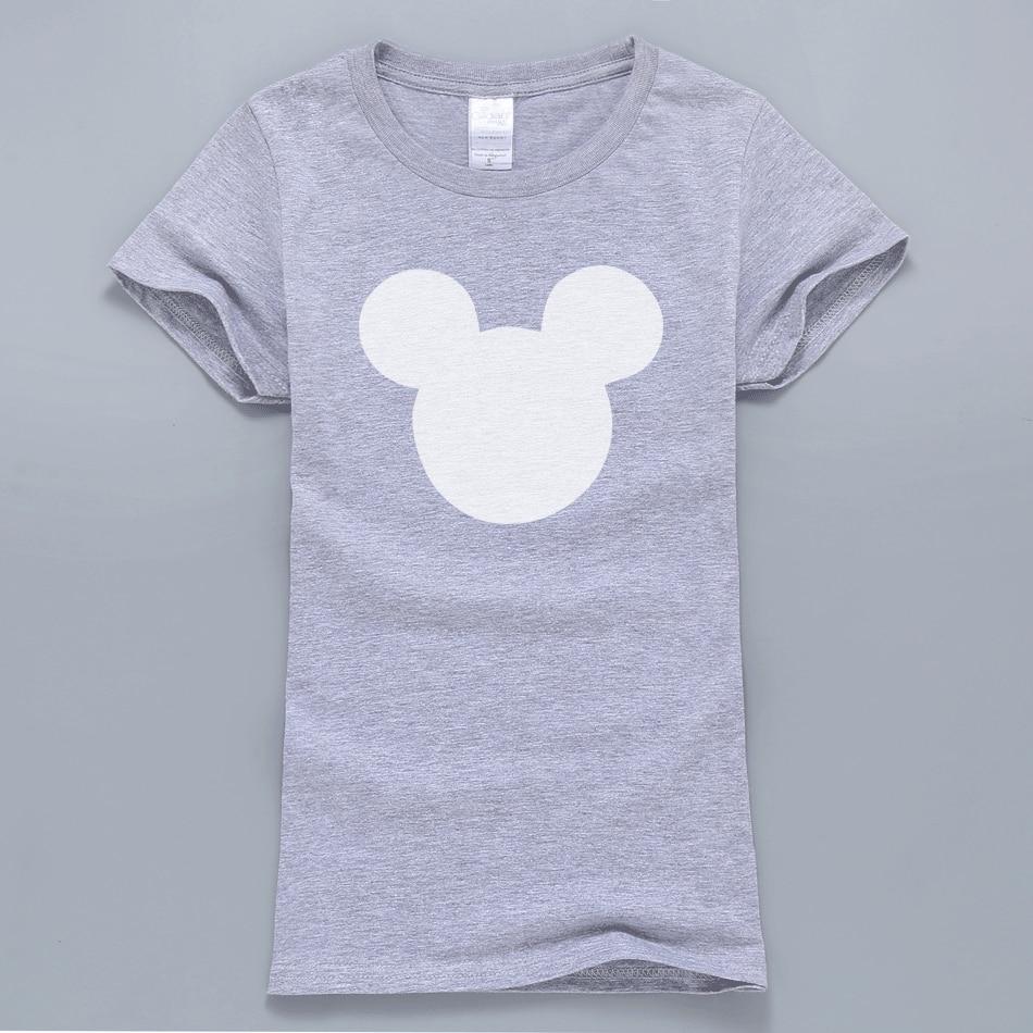 HTB1v2fsQVXXXXaqaFXXq6xXFXXXg - 2017 New Summer Mouse Head Printed Women T-Shirt