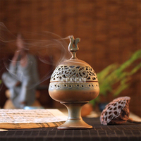 Handmade Ceramics Censer Creative Aroma Burner Sandalwood Incense Coil Towers Incense Burner Home Gifts With Base 4hour