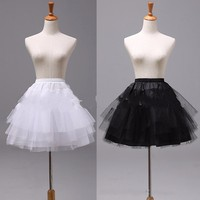White Or Black Short Petticoats 2017 Women Underskirt For Wedding Dress Jupon Cerceau Mariage