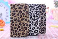 Leopard Style Leather Flip Cover Case For Apple IPhone 4s Wallet Case For IPhone 4 4s