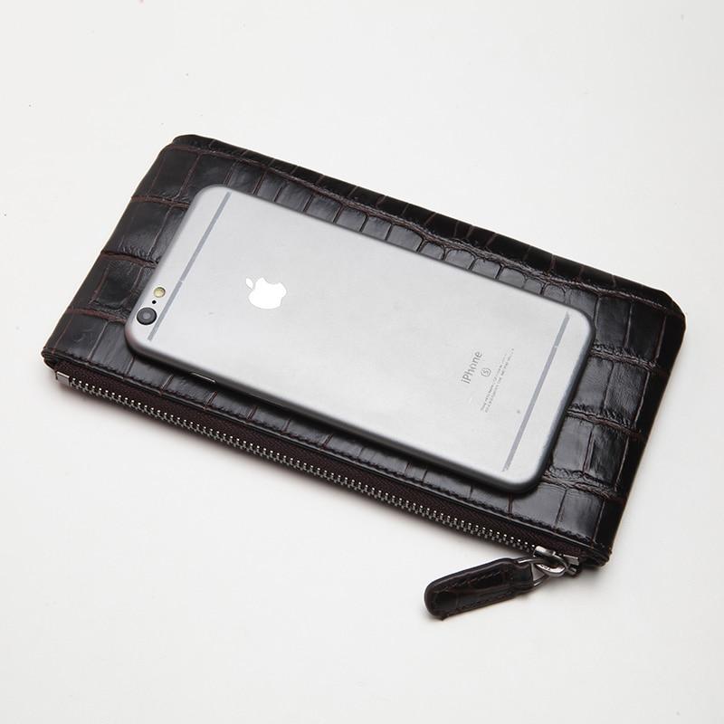 LANSPACE äkta läder människa plånböcker kända märke tunna - Plånböcker