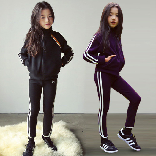 Children Clothing 2019 Autumn Winter Girls Clothes Set Outfit Kids Clothes Girl Sport Suit For Girl Clothing Sets 7 8 9 10 Year