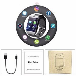 Image 3 - 블루투스 애플 시계 카메라 2g sim tf 카드 슬롯 스마트 시계 남자 여자 전화 안 드 로이드 아이폰 xiaomi 러시아 t15