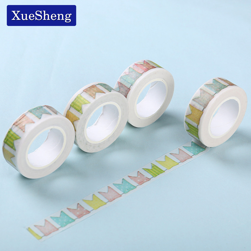 3 pcs colour flag washi tape diy decoration scrapbooking for Adhesive decoration