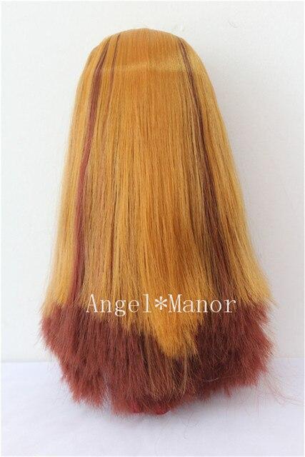 Blyth hair ,scalp with hair for Blyth,doll hair,  not doll,  light -brown hair,    GYS04
