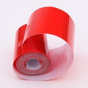 Image 3 - 5cm x 1m Sicherheit Mark Reflektierende Band Aufkleber Auto Styling Selbst Klebe Warnband Automobile Motorrad Reflektierende Streifen 6 farbe