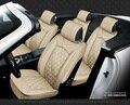Para volvo s40 s80 s60 V40 V60 XC60 negro rojo marca de coches de lujo de cuero suave asiento de la cubierta delantera y trasera asiento completo asientos para automóviles