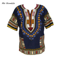 Fashion Design 100 Cotton New Arrival African Print Dashiki Clothing Short Sleeve Dashiki T Shirt For