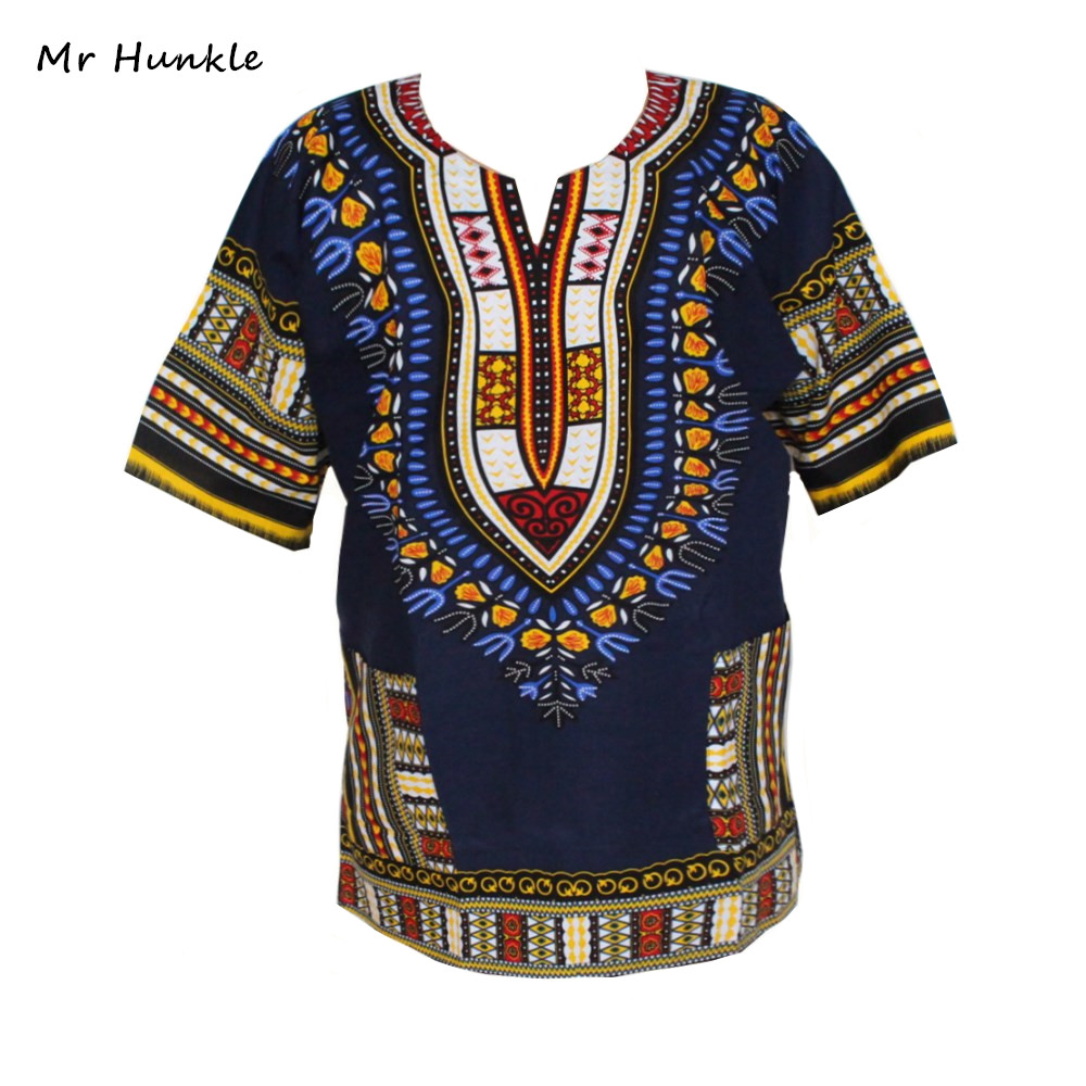 Fashion Band Mr Hunkle Design 100% Cotton New Arrival African Print Dashiki Clothing Short Sleeve Dashiki T-shirt For Men