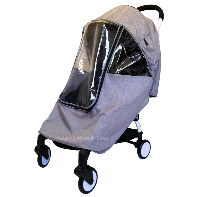 Baby Carriage Rain Cover Waterproof Windproof Stroller Accessories For YOYO Yoyaplus Pushchair Dustproof Cover For 90% Baby Cart stroller rain cover waterproof cover universal twins baby stroller rain cover windproof baby carriage stroller accessories