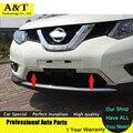2 ШТ. Хром Передняя нижняя Решетка Вокруг крышка планки 2014 2015 Для Nissan X-trail высокое качество chrome наклейки trim стайлинга автомобилей
