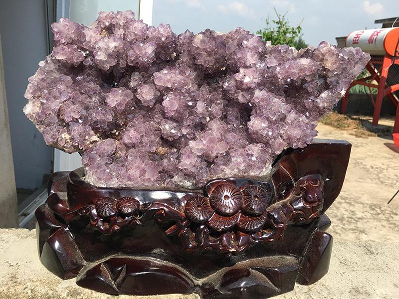 6,2 кг Большой Размеры натуральный аметист красивый фиолетовый Кварц Geode Кристалл кластера Уругвайский аметист кластера Кристалл Камень Обр