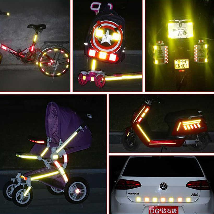 50mm X 5m odblaskowe naklejki rowerowe taśma samoprzylepna do rowerów bezpieczeństwo biały czerwony żółty niebieski rower naklejki akcesoria rowerowe