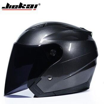 JIEKAI Motorcycle Helmets Electric Bicycle Helmet Open Face Dual Lens Visors Men Women Summer Scooter Motorbike Moto Bike Helmet 17