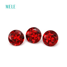 Natural garnet in round 8mm*8mm, bright color and fire, earring design , anniversary gift for lover