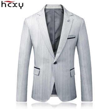 HCXY 2019 autumn Business Blazer Men Wedding Party Suit jacket Male Upscale Leisure Mens blazer Slim Fit Stylish Blazers For Men