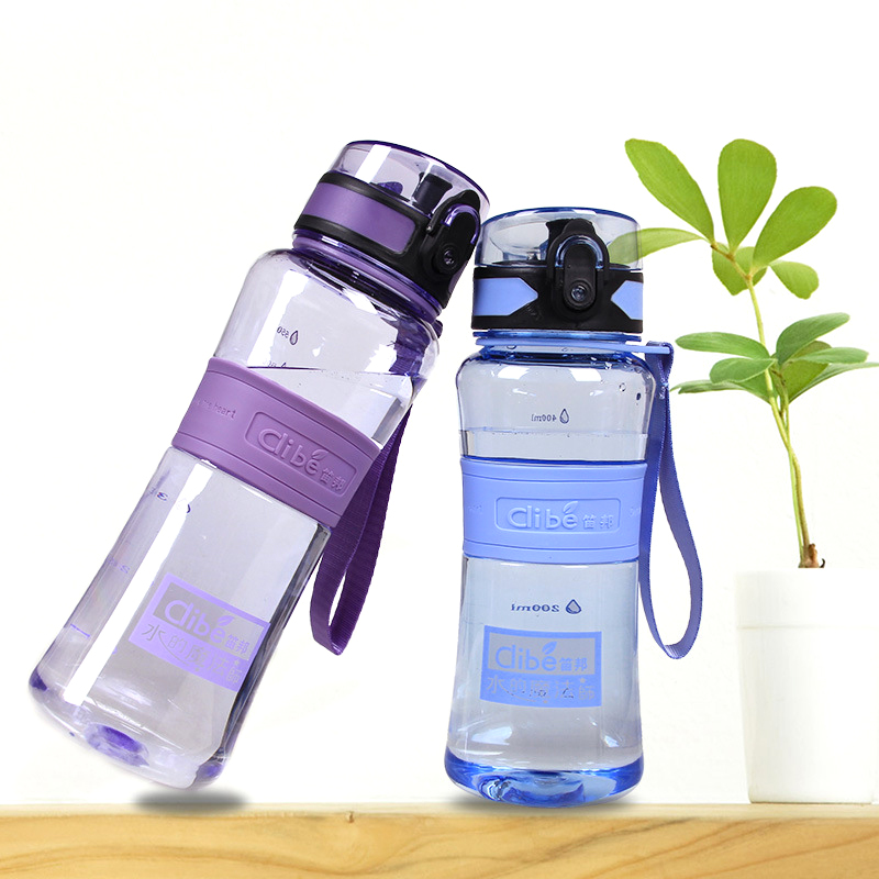 600ml Sports Water Bottle Large Capacity Plastic Bottle for Outdoor Cycling Camping Hiking Food Grade Sports Bottle Drinkware