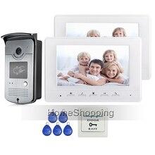 Free Shipping New 7 Color Screen Video Intercom font b Door b font Phone Set 2