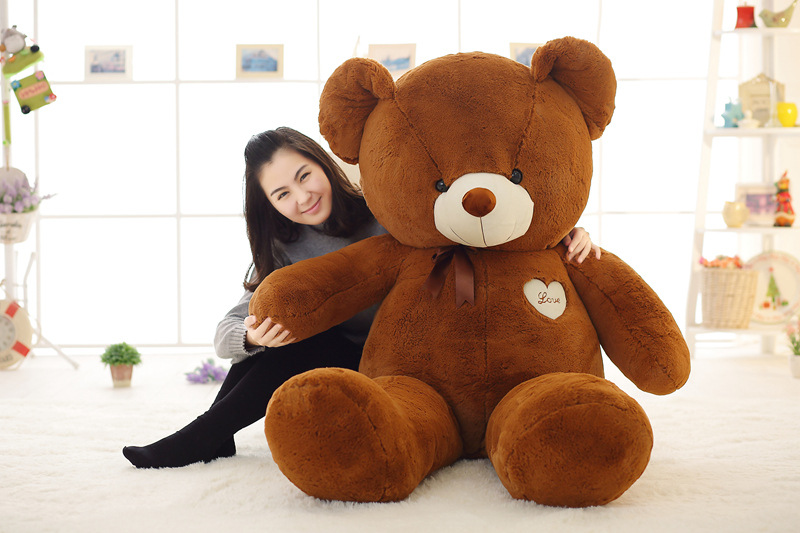 160cm teddy bear Stuffed Toys for girls valentine's day present 63inch Plush animals doll pillow chinese new year 2018 Christmas new violence bear momo bearbrick gloomy bear popobe spiderman vinyl toys 10 inch 25cm