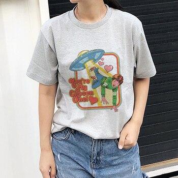 357805246 90 s camiseta gris Harajuku Tee camisa mujer Camiseta de manga corta  Streetwear Tops Vintage estilo Grunge Tumblr ropa