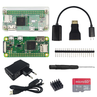 2018 Raspberry Pi Zero W Starter Kit Acrylic Case Heat Sink 20 Pin GPIO Header Screwdriver